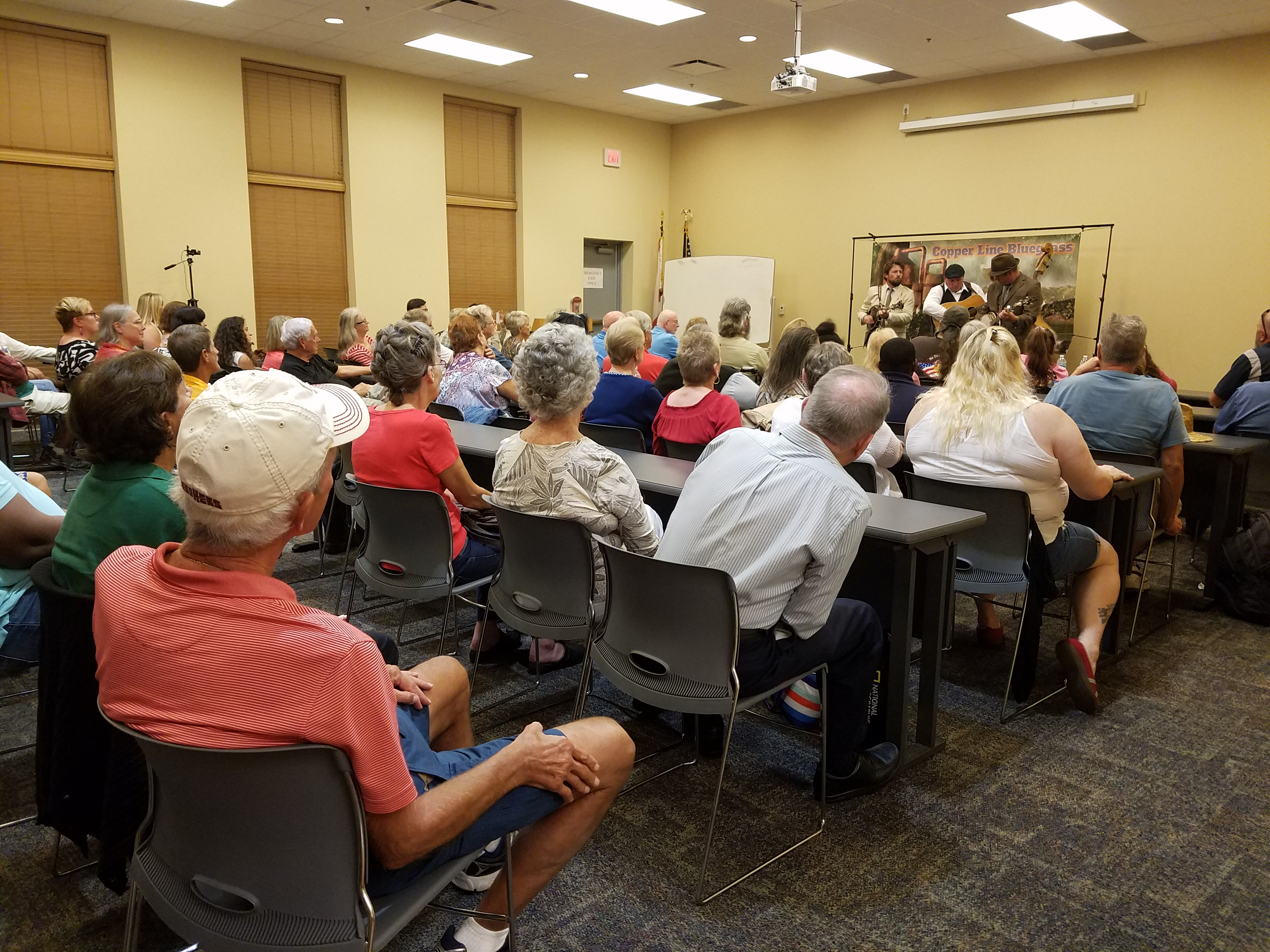 Copper Line Performed at the Library